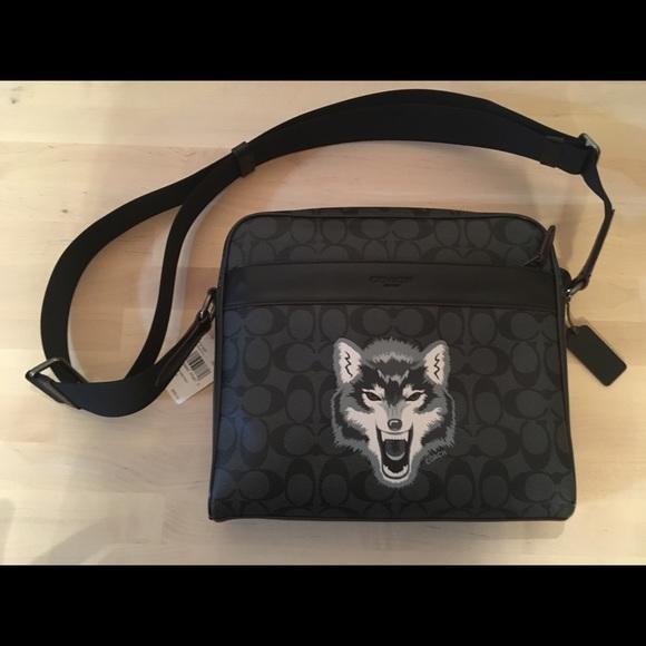 coach bags wolf messenger bag poshmark rh poshmark com